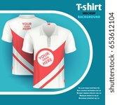 mens t shirt vector mockup... | Shutterstock .eps vector #653612104