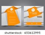 square flyer template. brochure ... | Shutterstock .eps vector #653612995