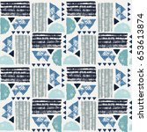 seamless african pattern.... | Shutterstock .eps vector #653613874