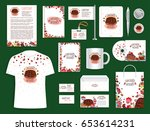 corporate identity set for... | Shutterstock .eps vector #653614231