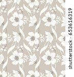 Seamless Fancy Designer Floral...