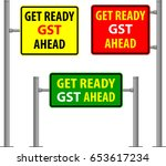 gst is a single tax on the... | Shutterstock .eps vector #653617234