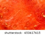 sweet watermelon background. | Shutterstock . vector #653617615