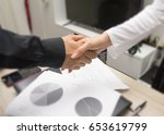business handshake | Shutterstock . vector #653619799