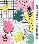 summer creative composition... | Shutterstock .eps vector #653620135