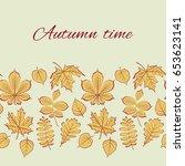 autumn vector illustration.... | Shutterstock .eps vector #653623141