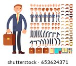 cartoon businessman... | Shutterstock .eps vector #653624371