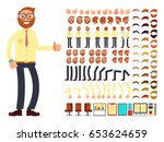 young male businessman... | Shutterstock .eps vector #653624659