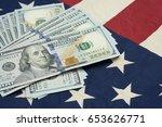 us dollars on flag
