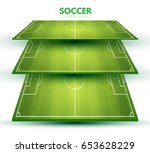 soccer field collection.... | Shutterstock .eps vector #653628229