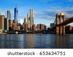 new york view of the manhattan... | Shutterstock . vector #653634751