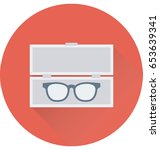 spectacles box vector icon   Shutterstock .eps vector #653639341