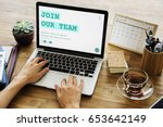job career hiring recruitment...   Shutterstock . vector #653642149