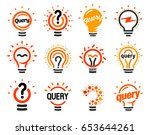 new question mark symbols  flat ... | Shutterstock .eps vector #653644261