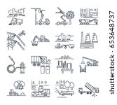 set of thin line icons public... | Shutterstock .eps vector #653648737
