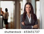 happy smiling ceo manager at... | Shutterstock . vector #653651737