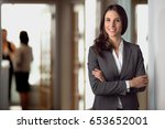 successful confident portrait... | Shutterstock . vector #653652001