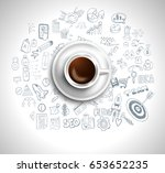 infograph background template... | Shutterstock .eps vector #653652235