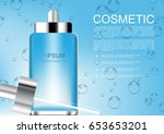 vector cosmetic ads serum with... | Shutterstock .eps vector #653653201