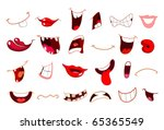 cartoon mouth set | Shutterstock .eps vector #65365549