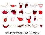 cartoon mouth set | Shutterstock .eps vector #65365549