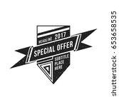 vector vintage black monochrome ...   Shutterstock .eps vector #653658535