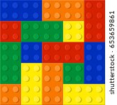 plastic constructor seamless... | Shutterstock .eps vector #653659861