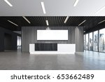white and black reception... | Shutterstock . vector #653662489