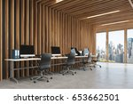 side view of an open space... | Shutterstock . vector #653662501