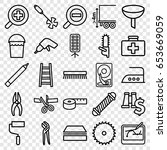 tool icons set. set of 25 tool... | Shutterstock .eps vector #653669059