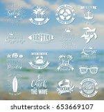 summer typography design... | Shutterstock .eps vector #653669107