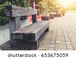 Old Wood Bench From Railway...