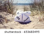 origami fortune teller on... | Shutterstock . vector #653683495