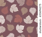 seamless pattern with forest... | Shutterstock .eps vector #653696275