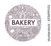 bakery  bread house poster... | Shutterstock .eps vector #653699101