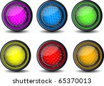 Glossy Web Button Set Of 6...