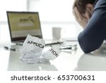 frustration in job search.... | Shutterstock . vector #653700631