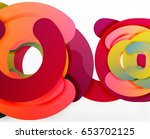 circle geometric abstract... | Shutterstock .eps vector #653702125