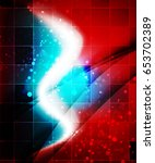 shiny wave  magic light efffect ... | Shutterstock .eps vector #653702389