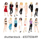 vector illustration of woman... | Shutterstock .eps vector #653703649