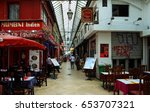 Small photo of Paris, France-01 JUNE 2017: passage Brady is iron-and-glass covered arcades located in the 10th arrondissement of Paris. It lies between rue du Faubourg-Saint-Denis and rue du Faubourg-Saint-Martin.
