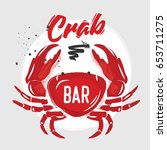 Chalk Red Crab With Letting....