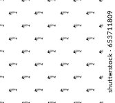 seamless pattern with the black ... | Shutterstock . vector #653711809