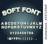 soft font | Shutterstock .eps vector #653714569