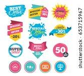 sale banners  online web... | Shutterstock .eps vector #653715967