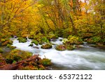 Autumn Colors Of Oirase River ...