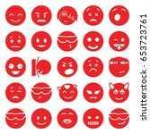 emotion icons set. set of 25... | Shutterstock .eps vector #653723761