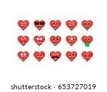 set of heart  icon vector... | Shutterstock .eps vector #653727019