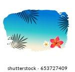 summer banner with blot... | Shutterstock .eps vector #653727409