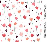 a simple pattern with tulips.